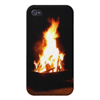ジャマイカのビーチの篝火のiPhone iPhone 4/4S ケース