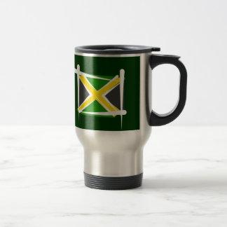ジャマイカのブラシの旗 トラベルマグ