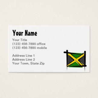 ジャマイカのブラシの旗 名刺