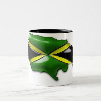 ジャマイカのマグの地図 ツートーンマグカップ