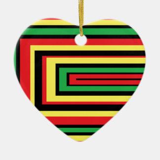 ジャマイカのラスタは色を定着させます セラミックオーナメント