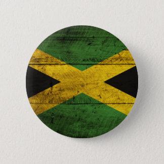 ジャマイカの古い木の旗 缶バッジ