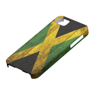 ジャマイカの古い木の旗 iPhone SE/5/5s ケース