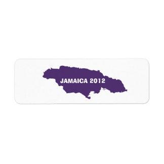 ジャマイカの地図は及びあなたの文字をカスタマイズ ラベル