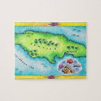 ジャマイカの地図 ジグソーパズル