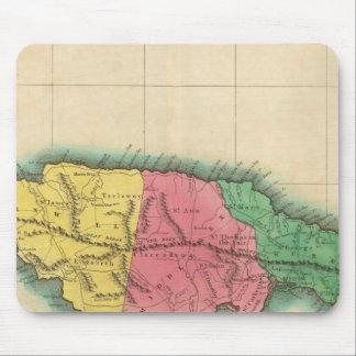 ジャマイカの地図 マウスパッド