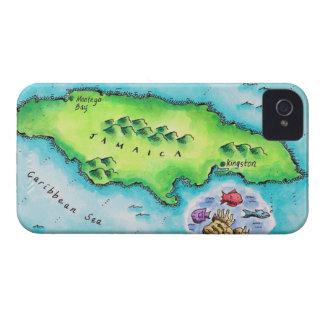 ジャマイカの地図 iPhone 4 ケース
