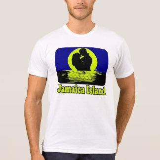 ジャマイカの島の日没の新婚旅行のTシャツ Tシャツ