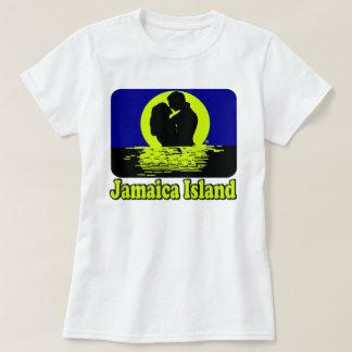 ジャマイカの島の日没のTシャツ Tシャツ