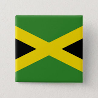 ジャマイカの旗が付いているボタン 5.1CM 正方形バッジ