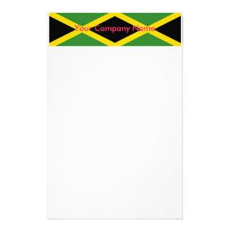 ジャマイカの旗が付いている文房具 便箋