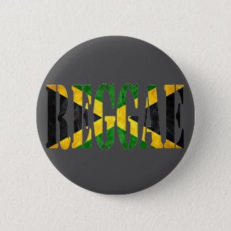 ジャマイカの旗とのレゲエ 5.7CM 丸型バッジ