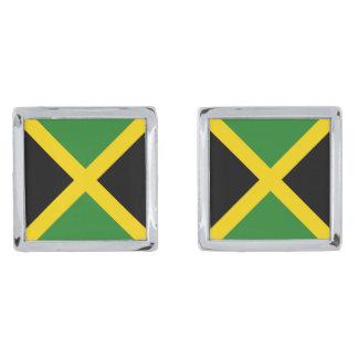 ジャマイカの旗のカフスボタン シルバー カフスボタン