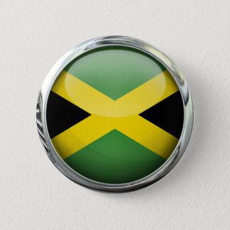 ジャマイカの旗のガラス玉 缶バッジ