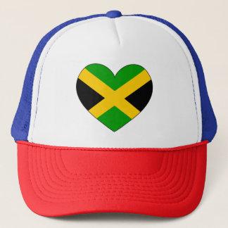 ジャマイカの旗のハート キャップ