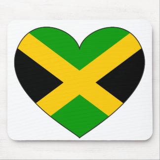 ジャマイカの旗のハート マウスパッド