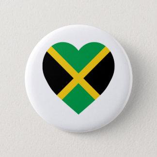 ジャマイカの旗のハート 缶バッジ