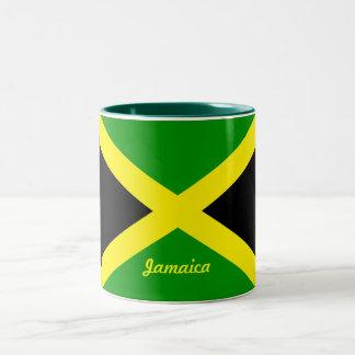 ジャマイカの旗のマグ ツートーンマグカップ
