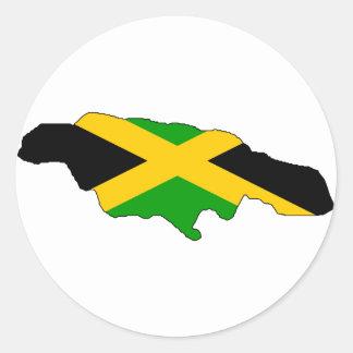 ジャマイカの旗の地図 ラウンドシール