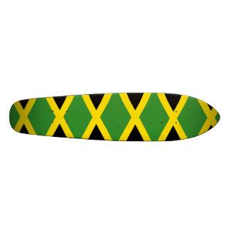 ジャマイカの旗ジャマイカは幾何学的なパターンを着色します 18.7CM ミニスケートボードデッキ