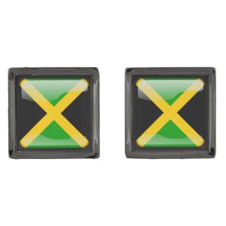 ジャマイカの旗 ガンメタルカフスボタン