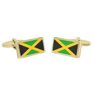 ジャマイカの旗 ゴールド カフスボタン