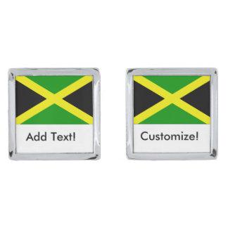 ジャマイカの旗 シルバー カフスボタン