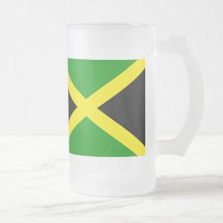ジャマイカの旗 フロストグラスビールジョッキ