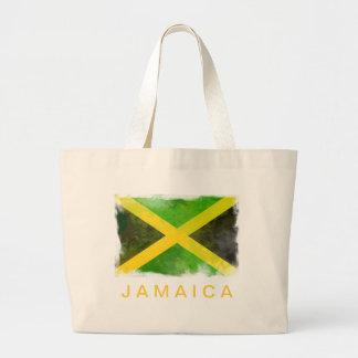 ジャマイカの旗-レゲエの根 ラージトートバッグ
