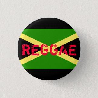 ジャマイカの旗、レゲエ 3.2CM 丸型バッジ