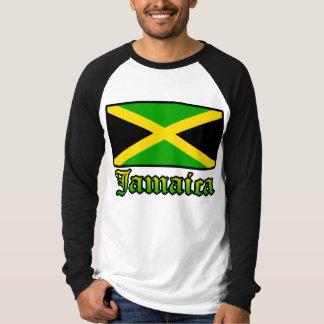 ジャマイカの旗、黒、緑および黄色 Tシャツ