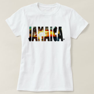 ジャマイカの日没のジャマイカのTシャツのオンラインの販売 Tシャツ