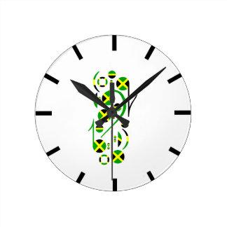ジャマイカの柱時計 ラウンド壁時計
