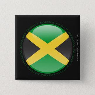 ジャマイカの泡旗 5.1CM 正方形バッジ