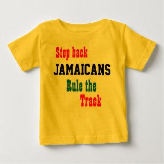 ジャマイカの短距離走者のTシャツ ベビーTシャツ