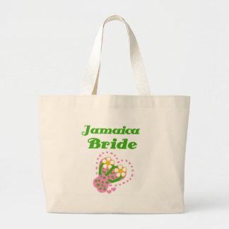 ジャマイカの花嫁 ラージトートバッグ