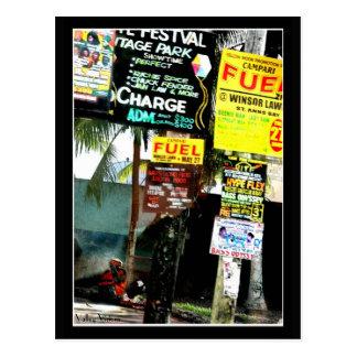 ジャマイカの通り場面 ポストカード