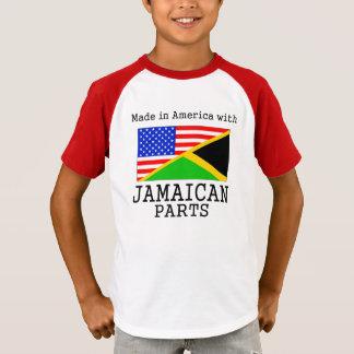 ジャマイカの部品が付いているアメリカで作られる Tシャツ