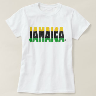 ジャマイカの金ゴールドの黒の緑のストライプのジャマイカのTシャツ Tシャツ