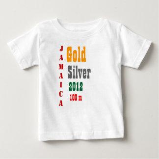 ジャマイカの金メダルのTシャツ ベビーTシャツ