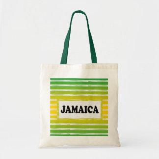 ジャマイカの黄色緑の黒のトートバック トートバッグ