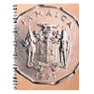 ジャマイカの1つのセントの硬貨 ノートブック