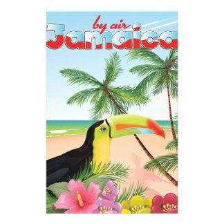 ジャマイカのtoucanビーチポスター 便箋