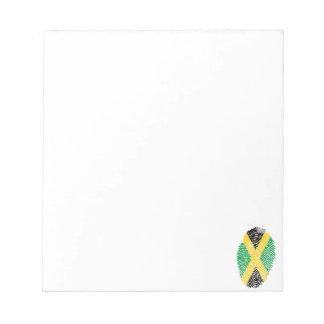ジャマイカのtouchの指紋の旗 ノートパッド