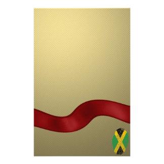 ジャマイカのtouchの指紋の旗 便箋