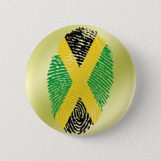 ジャマイカのtouchの指紋の旗 5.7cm 丸型バッジ