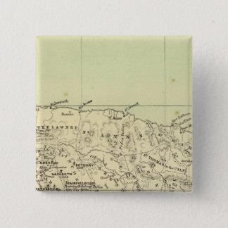 ジャマイカは地図を石版刷にしました 5.1CM 正方形バッジ