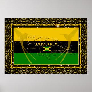 ジャマイカは鳥ポスターをぶんぶんいう教区を着色します ポスター