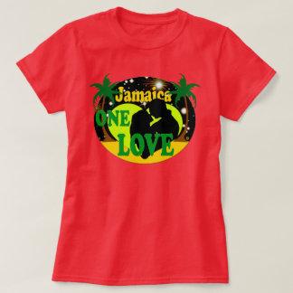 ジャマイカは1つの愛日没新婚旅行のTシャツを主演します Tシャツ