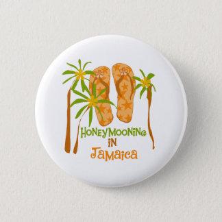 ジャマイカボタンのHoneymooning 5.7cm 丸型バッジ